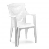 Plastová zahradní židle Arpa bílá