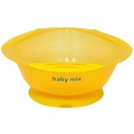 Detská protišmyková miska Baby Mix žltá BABY MIX