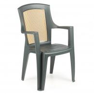 Plastová zahradní židle Viola Wood