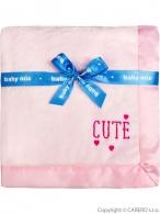 Detská plyšová deka Baby Mix Cute ružová BABY MIX
