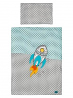 2-dielne posteľné obliečky Belisima Raketa 90/120 tyrkysovo-sivé BELISIMA