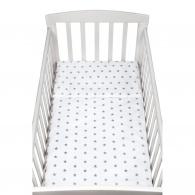 2-dielne posteľné obliečky New Baby 90/120 cm sivé hviezdičky NEW BABY