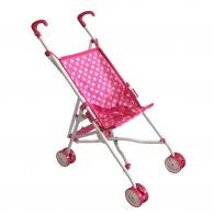 Detský golfový kočík pre bábiky hviezdičky ružový BABY MIX