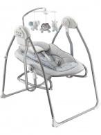 Detské lehátko s hojdačkou a kolotočom 2v1 Baby Mix grey BABY MIX