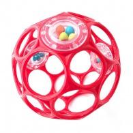 Bright Starts hračka Oball Rattle 10cm červená