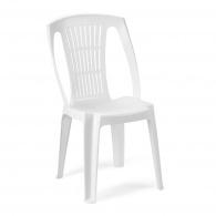 Plastová zahradní židle Stella bílá