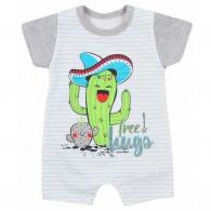 Dojčenský letný overal Koala Cactus Summer sivý KOALA