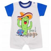 Dojčenský letný overal Koala Cactus Summer modrý KOALA