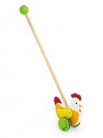 Drevená jazdiaca hračka Viga sliepočka Viga