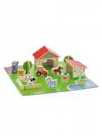 Detské drevené 3D puzzle Viga Farma Viga