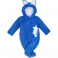 Zimná detská kombinéza New Baby Ušiačik modrá NEW BABY
