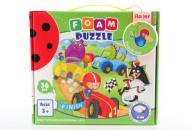 Pěnové puzzle 36 dílků Závody