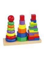 Drevené farebné pyramidy pre deti Viga Viga