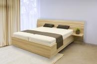 Dvoulůžková postel se zaobleným čelem Salina