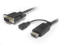 PREMIUMCORD Převodník HDMI na VGA s microUSB napájením