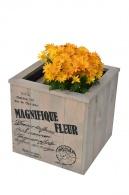 Květináč s nápisem, 30 cm