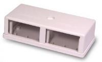Zásuvka modulární 4-portová na omítku, bílá, prázdná