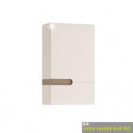 Koupelnová horní skříňka LYNATET 157 P provedení, bílá extra vysoký lesk