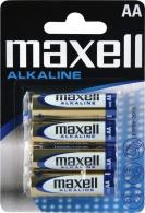 LR6/4BP-M Maxell - AA alkalická tužková baterie LR6/4BP (cena za 1ks/baleno po 4 ks v blisteru)
