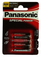 R03R/4BP Panasonic - AAA mikrotužková ZnCl baterie SPECIAL, balení 4ks (cena za 1ks)