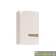 Koupelnová horní skříňka LYNATET 157 L provedení, bílá extra vysoký lesk