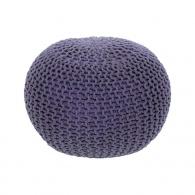Pletený taburet, fialová bavlna, GOBI TYP 2