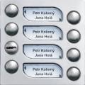 4FN23102.5 Tesla - KARAT 2-BUS Modul zvonkové tablo s 7 tlačítky nerez
