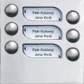 4FN23101.5 Tesla - KARAT 2-BUS Modul zvonkové tablo s 6 tlačítky nerez