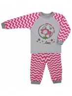 Detské bavlnené pyžamo Koala Cik-Cak ružové KOALA