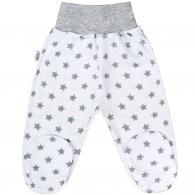 Dojčenské polodupačky New Baby Classic II sivé s hviezdičkami NEW BABY