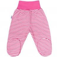 Dojčenské polodupačky New Baby Classic II s ružovými pruhmi NEW BABY