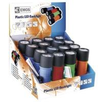EMOS LED svítilna  plastová, 9 LED, na 3x AAA  *P3857