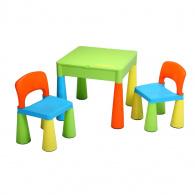 Detská sada stolček a dve stoličky NEW BABY multi color NEW BABY